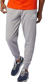 New Balance Men Nb Essentials Stacked Logo Sweatpant Pants Lifestyle Athletic Grey XL