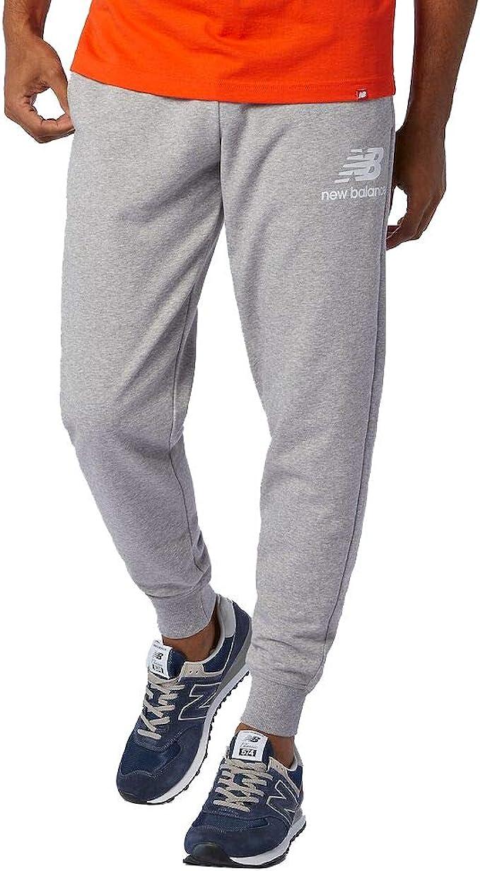 New Balance Uomo Essentials Impilati Logo Pantaloni Tuta Grigio x-Large