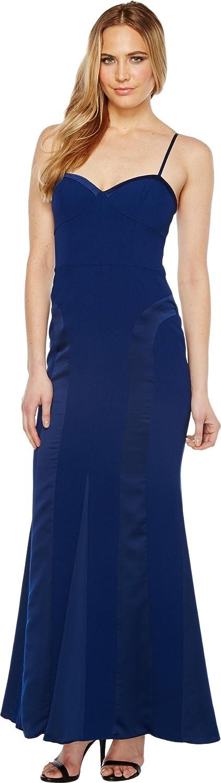 Aidan 1年保証 Mattox Women's Crepe Gown and (訳ありセール 格安) Charmeuse