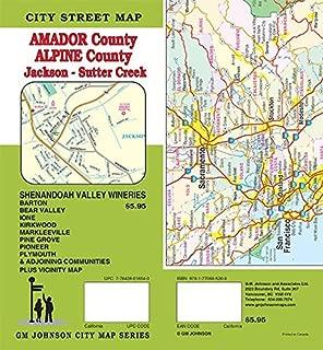 Amador County / Alpine County / Sutter Creek - Jackson, California Street Map