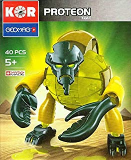 Geomag Kor Proteon Tzak Transformer - 40 Piece Creative Magnet Playset Toy - Swiss Made - Part of Geomag's World Famous Award Winning Product Line - Introductory Level - Ages 5 and Up