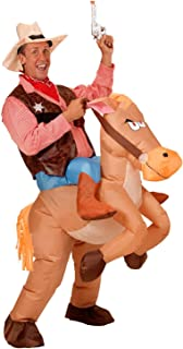 RETRO JUMP Inflatable Halloween Costume Cowboy Cosplay Fancy Dress Blow up Adult Rider Jumpsuit