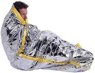 Yuuming 2個セット 緊急 寝袋タイプ アルミ保温シート サバイバルレスキュー 防寒 防災 断熱 震災 地震 津波 対策 緊急 非常用 200*100cm (寝袋-2枚)