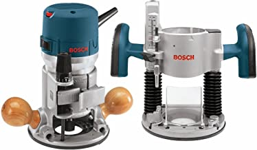 Bosch 1617EVSPK-RT 12 Amp 2-1/4 HP Plunge and Fixed Base Variable Speed Router Kit with 1/4-Inch and 1/2-Inch Collets (Renewed)