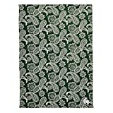 Vera Bradley Collegiate Plush XL Throw Blanket (Multiple Teams Available), Michigan State University Dk Green/White Bandana