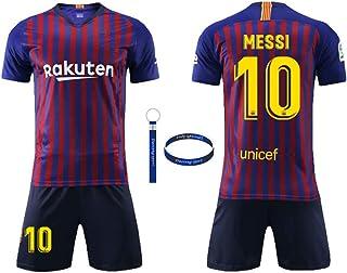 1ce048c3ca3 Daoseng Camiseta Jersey Futbol Barcelona 2018-2019 Traje de niños Manga  Corta + Pantalones Cortos