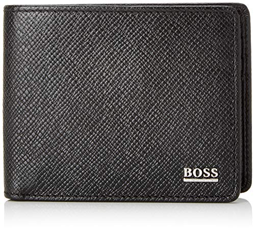 BOSS Signature_6 Cc - Portafogli Uomo, Nero (Schwarz), 1.5x8x11 cm (B x H T)