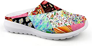 Men's Slippers Mesh Clogs Mules Beach Shoes Vintage Graffiti Retro Splice Fabric Graphic Breathable Sandals Unisex Casual ...