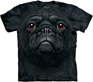 The Mountain Black Pug Face Tee Shirt Child S-XL Adult S-5X