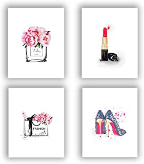 """Fashion Women Art Print Set Of 4 (10""""X8"""" )Art Painting For Women Gifts,Canvas.."""