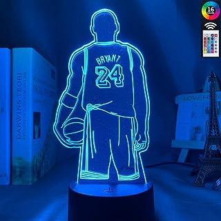 Sport Basketball 3D Lamp Kobe Bryant Back View Office Room Decoration Nightlight Dropshipping Kobe Memorial Gift Led Night...