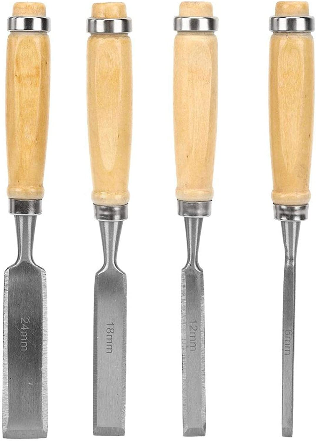 New products world's highest quality popular Wood Max 41% OFF Carving Chisel 4pcs Wooden Chrom Tool Engraving Handle Set