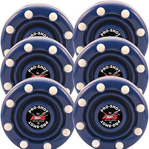 6 Pack of IDS Roller Hockey Puck Pro Shot (Blue)