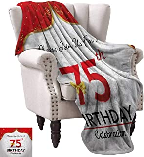 Anyangeight Digital Printing Blanket,Royal Classical Birthday Party Floral Invitation Ceremony Please Join US 90