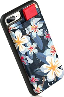 LAMEEKU iPhone 7 Plus Wallet Case, iPhone 8 Plus Leather Case Floral Design with Credit Card Holder Slots, Shockproof TPU Cover Compatible for Apple iPhone 7 Plus/ 8 Plus-Watercolor White Flower