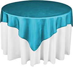 LinenTablecloth 72 Inch Organza Overlay Caribbean