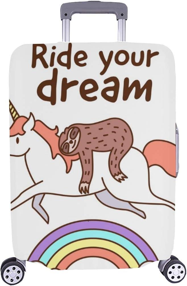 Sloth Riding Unicorn Ride Your Travel Trolley New life Case Spandex Lugga online shop