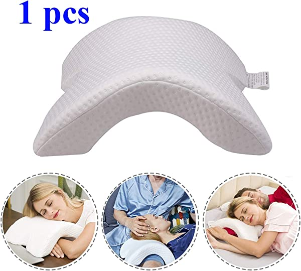 GOBEAUTY Slow Rebound Pressure Pillow Multifunctional Zero Pressure Pillow Sponge Memory Pillow Arched Shaped With Cooling Washable Cover For Home Office Bed 1 Pcs