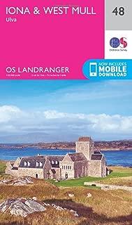 ORDNANCE SURVEY Landranger 48 Iona & West Mull, Ulva Map with Digital Version