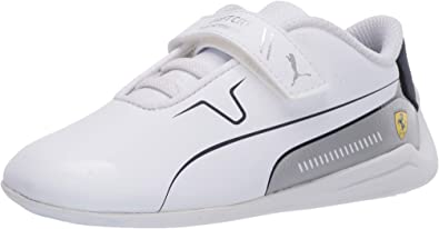 PUMA Unisex-Child Ferrari Drift Cat 8 Hook and Loop Sneaker