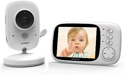 Video /Überwachung f/ür Baby VOX Modus Video Babyphone mit Kamera Gegensprechfunktion Dual Akkus Temperatur/überwachung Baby Monitor Nachsicht 3,3 Zoll Display Schlaflieder BIBENE