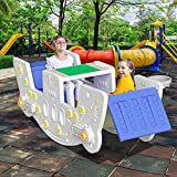 SURPCOS 6 in 1 Toddler Table and Seesaw,...