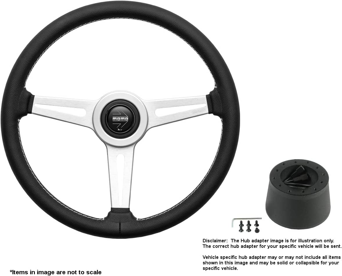 MOMO Retro 360mm 14.17 Inches Brushed Leather Limited time cheap sale Steering Wheel w overseas