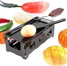 HAOX Raclette au Fromage Portable, avec Manche en Bois, Grille de Table à raclette, pour Faire du Fromage pour la Cuisine ...
