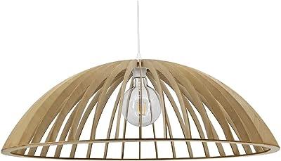 Lussiol 250491 - Lámpara de techo (bambú, 60 W, 60 x 33 cm ...