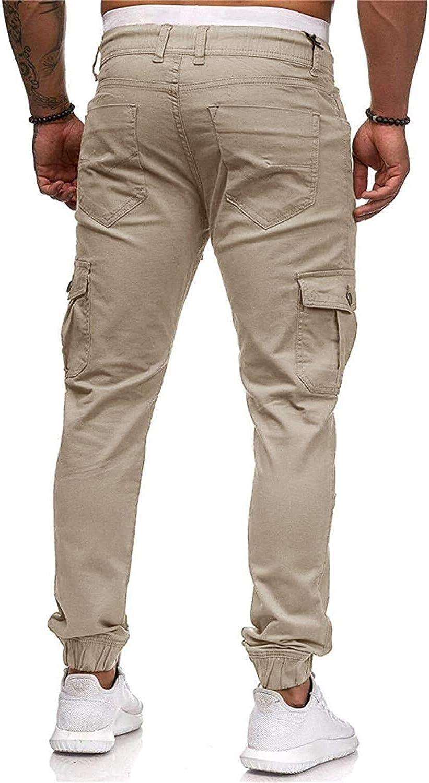 Pantalons Chino Cargo Jeans Sport Stretch Pantalons Vêtements de fête Hommes Pantalons De Pantalons pour Hommes avec Poches Pantalon De Loisirs Slim Fit Khaki-1