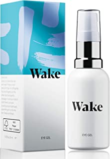 Wake Skincare Eye Gel - Hydrating Eye Serum for Puffy Eyes,