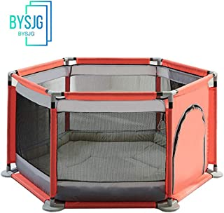 BYSJG Baby Protective Fence Playpens Nursery Furniture for toddler for babies baby baby Play Yard Home play fence Play mat  Color red  Size 140 65cm