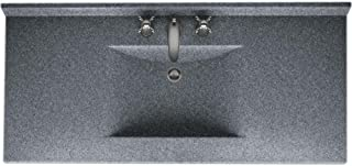 Swanstone 509442 Contour Solid Surface Single-Bowl Vanity Top, 43-in L X 22-in H X 6.25-in H, Night Sky
