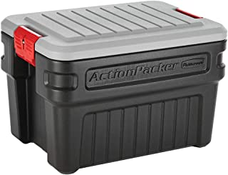 Rubbermaid ActionPacker? 24 Gal Lockable Storage Bins Pack of 2, Industrial, Rugged Storage Containers with Lids