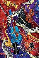ジグソーパズル子供のための大人のための1000個抽象的なギターパズル教育ゲーム家の装飾パズル(50x75cmカスタマイズ可能な写真)