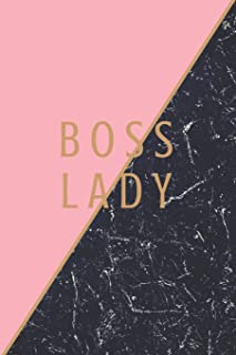 Boss Lady: Daily and Hourly Planner for Organizing School Family Personal and Professional Schedules Black Marble and Pink...