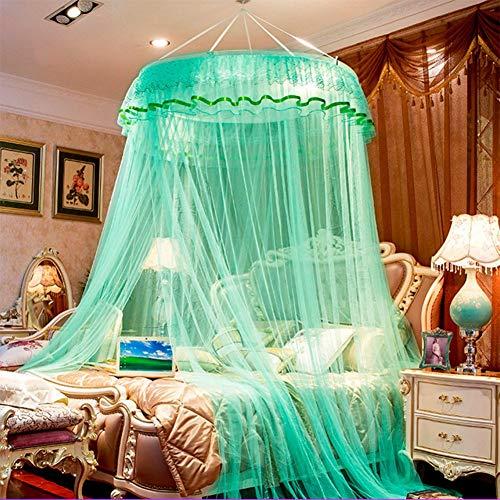 Willlly Dome Hangende deken, muggennet, casual chic princes kort, anti-muggen, licht luifel H Queen2 stijl, oosterse zachte decoratie Size Kleur: zwart/bruin,