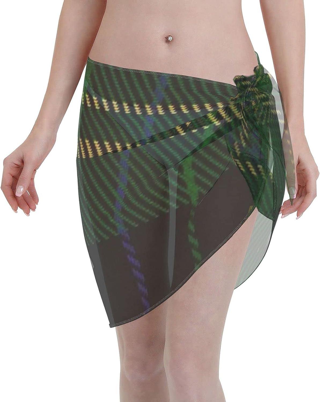 2053 pants Fitzpatrick Hunting ClanFamily Tartan Women Chiffon Beach Cover ups Beach Swimsuit Wrap Skirt wrap Bathing Suits for Women