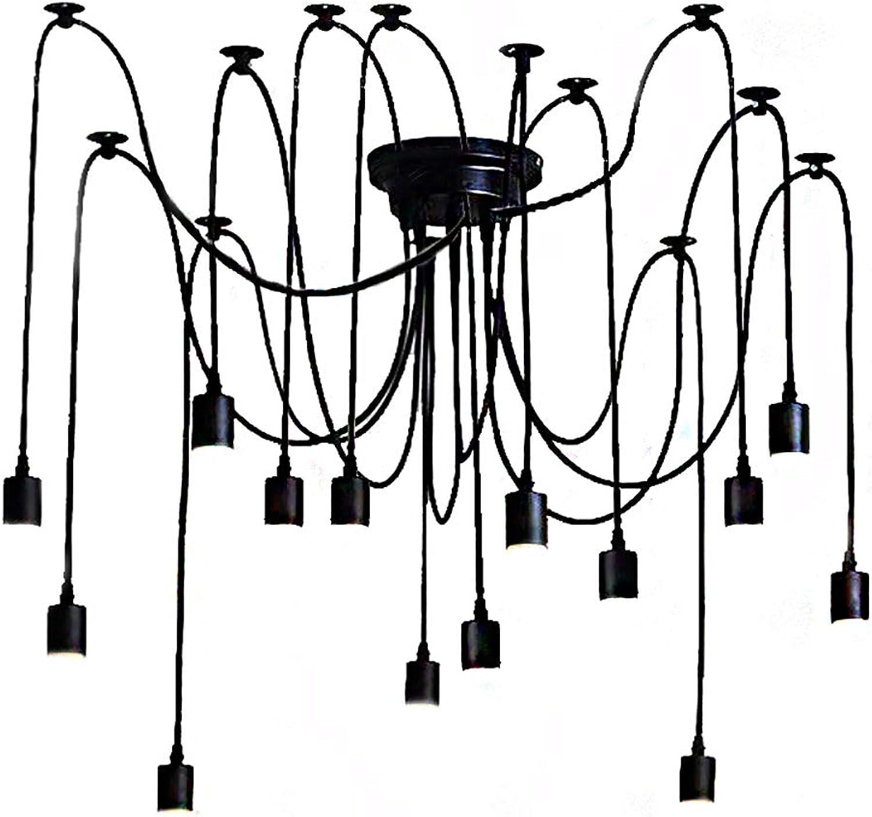 ECO REMAI Forme d'araignée de Lustre, Bar créatif Industriel de Lustre de Plafond de Barre de Restaurant Antique Industriel alluhommet,14lamphead