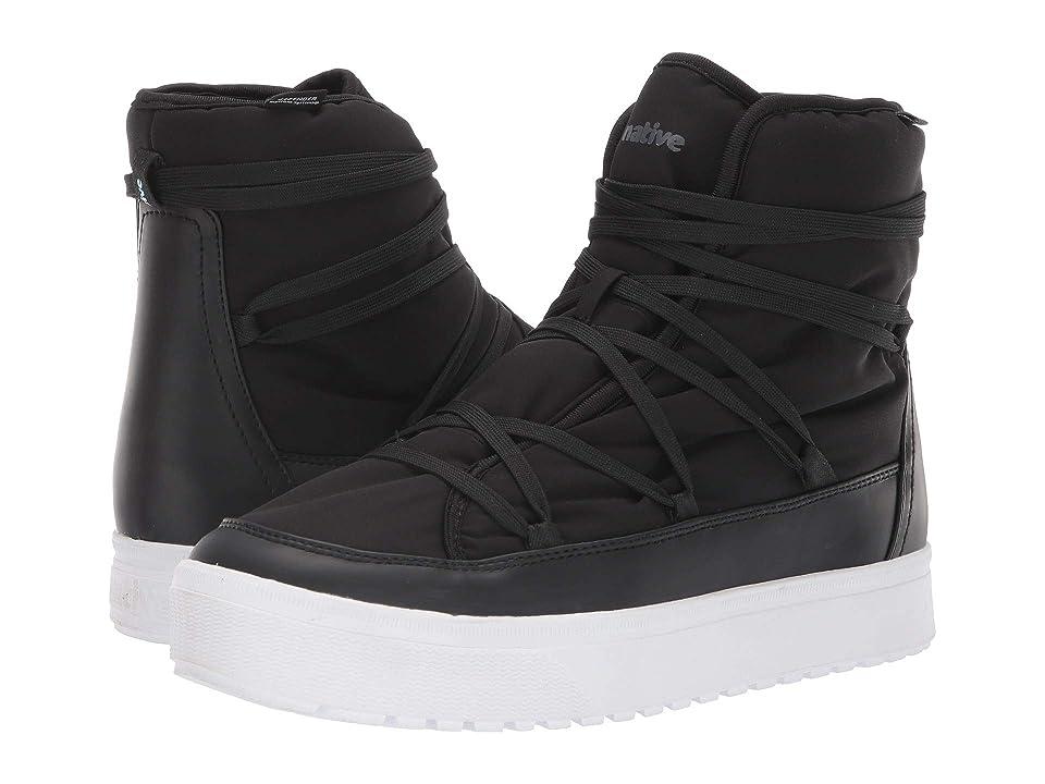 Native Shoes Chamonix (Jiffy Black/Shell White) Lace up casual Shoes