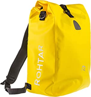 comprar comparacion Rohtar - Mochila mensajera impermeable - Bolsa 3 en 1 de 18 o 25 litros, mochila, portabicicletas de viaje - Mochila para ...
