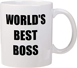 Bluegrass Mugs Funny World's Best Boss – 11 oz Coffee Mug, White