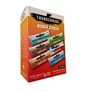 Thunderbird Paleo and Vegan Hiking Food Snacks - Real Food Energy Paleo Bar - Fruit & Nutrition Nut Bars - No Added Sugar, Grain and Gluten Free, Non-GMO, 6 Pack (Bestsellers Variety Pack)