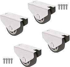 QC-JASON40OX22P 4 Ruedas para muebles 2 con freno y 2 sin freno 40, OXIDO Con placa de montaje y tornillos incluidos.