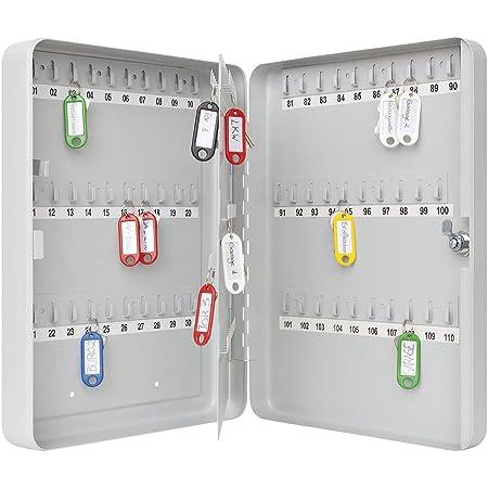 Wedo 10260837X Armoire à clés pour 110 clés 28,0x8,0x37,0cm Gris lumière