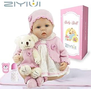 e0f2932fd2 ZIYIUI Real Look Realista Muñeca Reborn bebé 55 cm Recién Nacido Silicona  Suave de Vinilo Realista