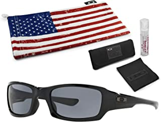 Fives Squared Sunglasses with Lens Cleaning Kit and Country Flag Microbag