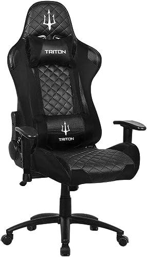 Entrega gratuita y rápida disponible. TRITON p050-x3-bb Gaming Chair-sedia, Piel sintética, negro negro, 70x 65x 65x 65x 125cm  Los mejores precios y los estilos más frescos.
