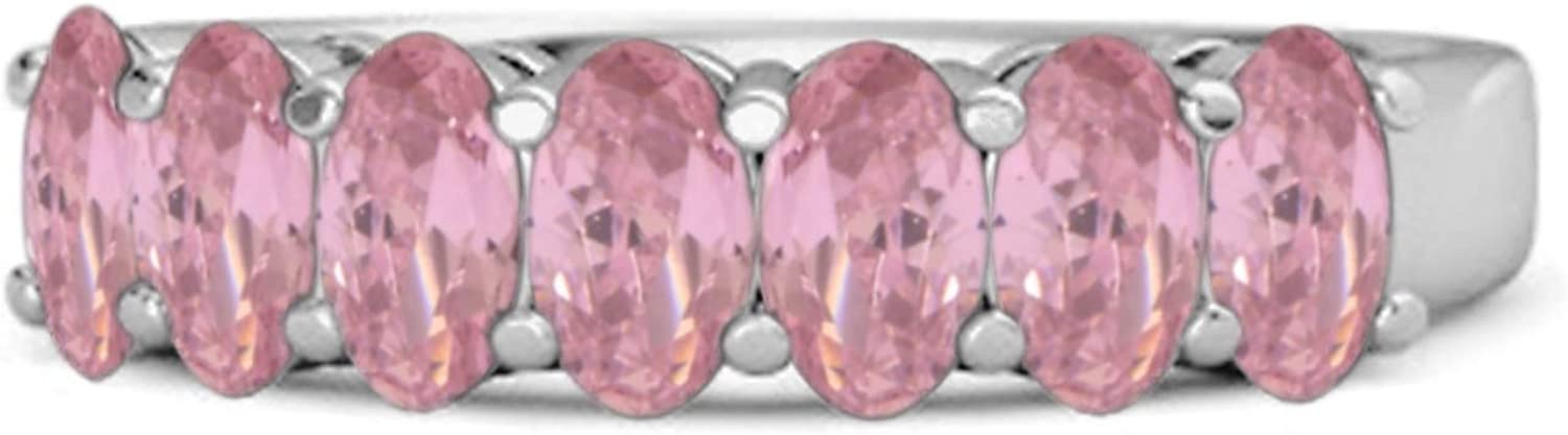 Multi Choice Your Gemstone Seven Mesa Mall Clearance SALE! Limited time! Stone Eternity 92 1.75 Cts Half