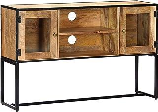 Festnight Mueble para TV Mueble TV Salón Moderno Mesa Televisión con 2 Puertas y 2 Compartimentos Abiertos Madera Maciza ...